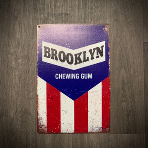 Brooklyn Chewing Gum Tin Retro Cycling Sign