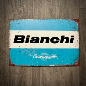 Bianchi Classic Tin Retro Cycling Sign