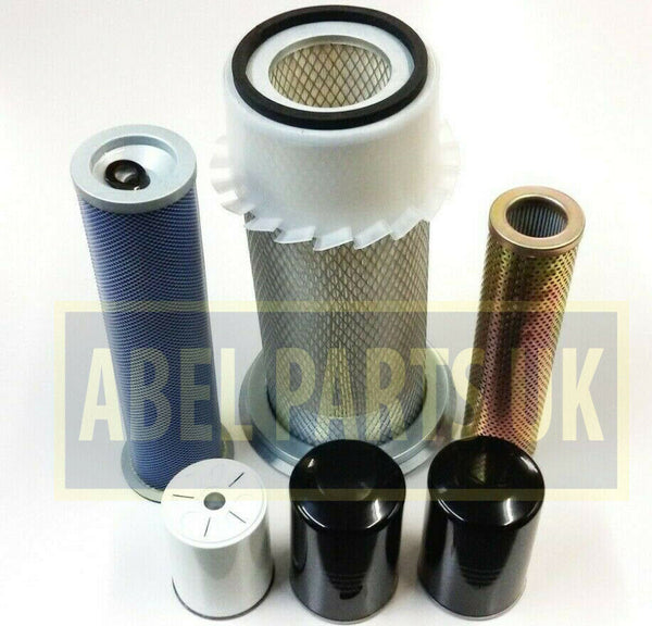 FILTER KIT 3CX GREY CAB NON TURBO AA SYNCRO + POWERSHIFT TRANSMISSION