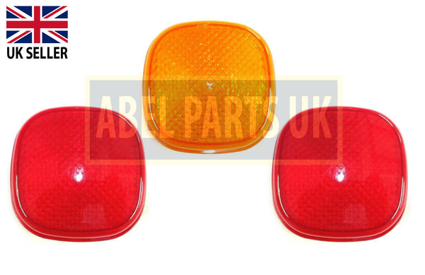 REAR LAMP 3 LENS SET (PART NO. 700/50072 x 2, 700/50073 x 1)