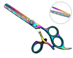 "Professional 3 Ring Hair cutting Shears Japanese Steel 6.0"" Set Titanium"