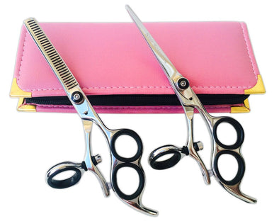 3 Ring Thumb Swivel Salon Hairdressing Shears Thinning Set 6.0""