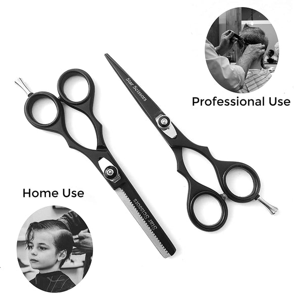 Professional Haircut Scissors Barber Hair Cutting Scissors Hair Thinning Scissors 5.5""