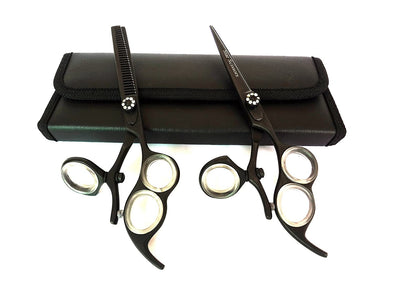 Thumb Swivel Scissors & Thinner Hair Cutting Shears Barber Salon Scissors