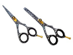 Beautiful Hair Thinning & Texturizing White Zebra Scissors Set 5.5""