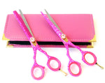 Pink Snow Hair Cutting & Thinning Shears Set 6.0""