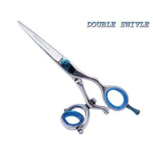 Double Thumb Swivel Hair Cutting Shears 5.5""