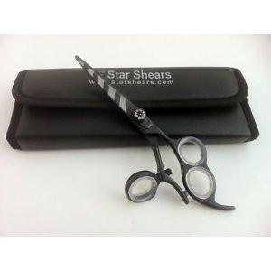3 Whole Thumb Swivel Black Zebra Scissors Shears 6.0