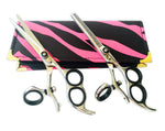 Double Thumb Swivel Hairdressing Thinning Shears Set 6.0""