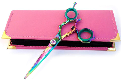 Thumb Swivel Bamboo Hairdressing Cutting Titanium Scissors Shears 6.0""
