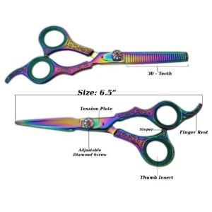 Titanium Engraved Hair Cutting Scissors Set 6.0""