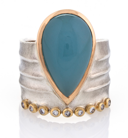 Aqua Crown Ring by Danielle Miller