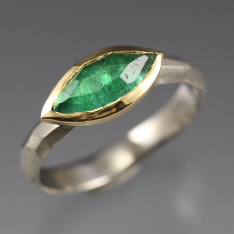 Marquise Emerald Ring by Danielle Miller