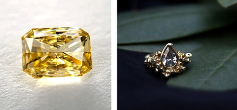 Yellow and Gray Diamonds