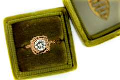 Organic Rose Gold Diamond Engagement Ring by Katie Poterala