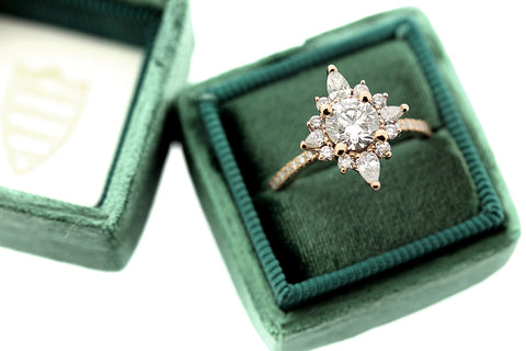 Starburst Engagement Ring in Rose Gold by Katie Poterala