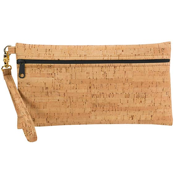 Be Ready - Large Wristlet - Rustic Cork