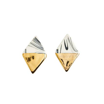 Large Diamond Marbled Studs