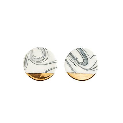 Large Round Marbled Studs