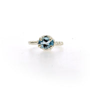Ada Ring - Blue Topaz