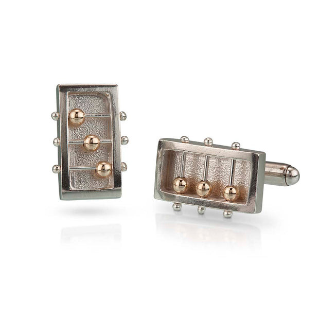 Rectangle Abacus Cufflinks