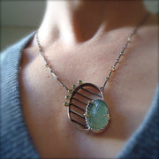 Striated Necklace - Green Beryl And Green Diamonds