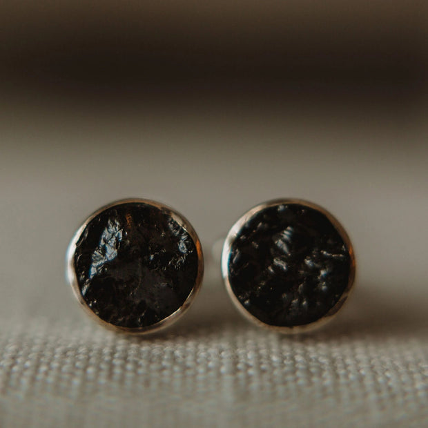 Round Black Tourmaline Cufflinks