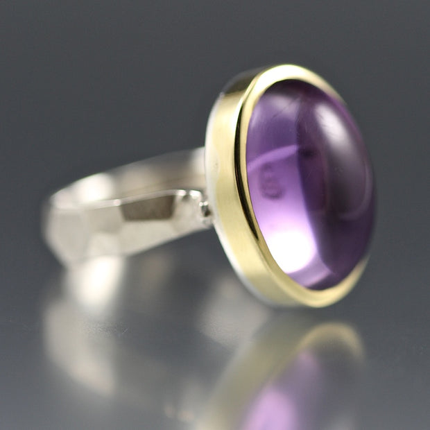 Amethyst Chiseled Ring