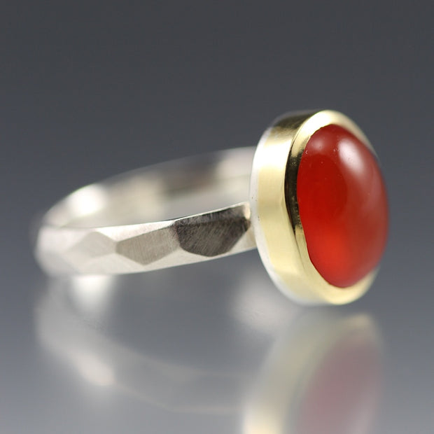 Carnelian Chiseled Ring