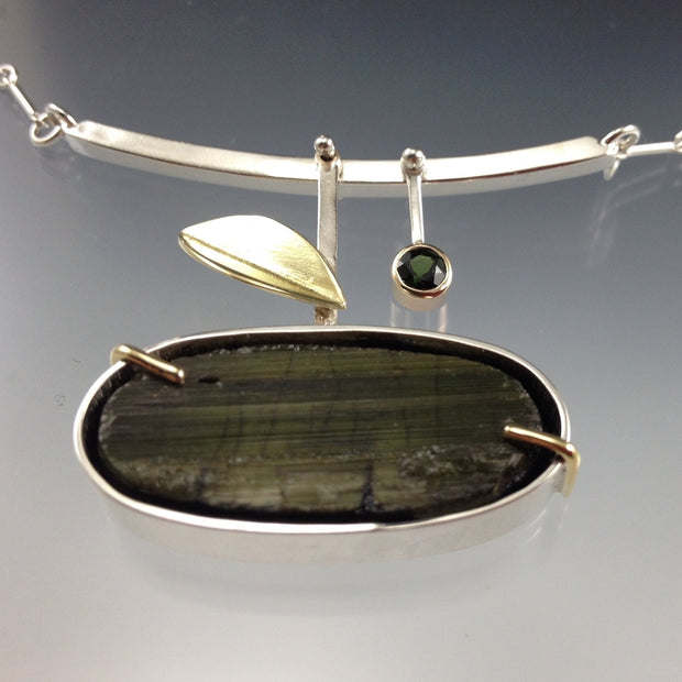 Green Tourmaline - Branch Necklace
