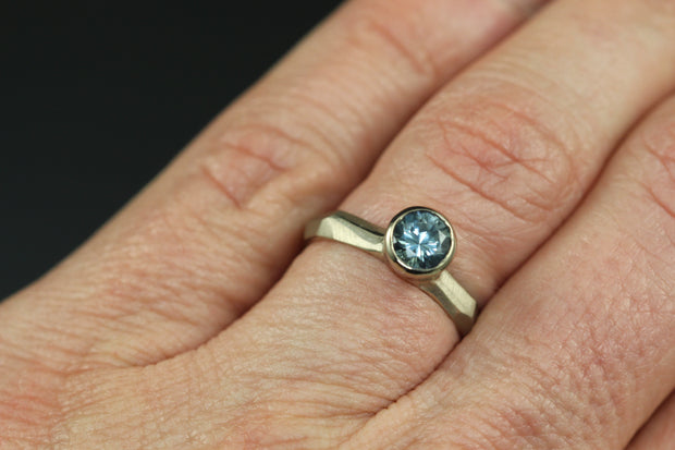 Montana Blue Sapphire Chiseled Ring