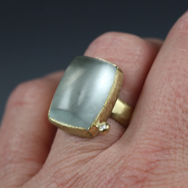 Rectangular Aquamarine Ring