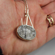 Oval Tourmalated Quartz - Sticks & Stones Pendant