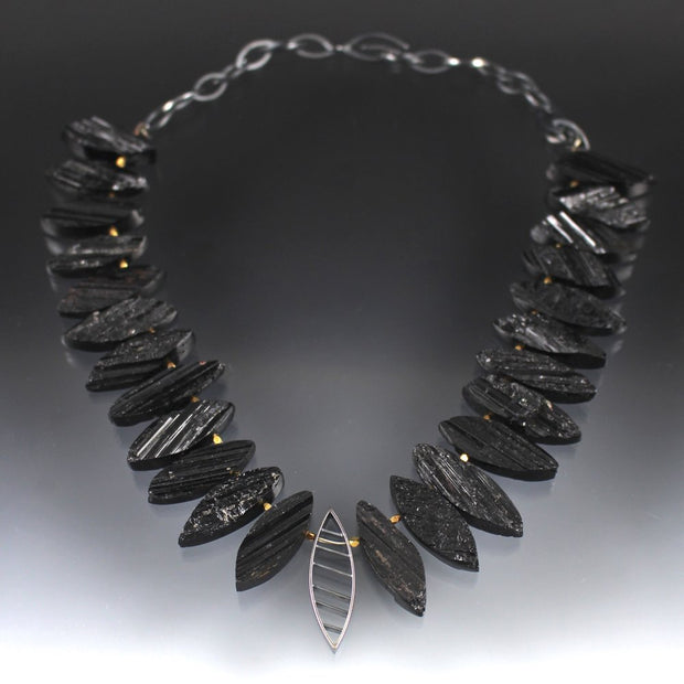 Black Tourmaline Statement Necklace
