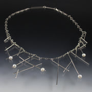 Sticks And Pearls Necklace