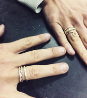 3/5/21 AM - Silver Stackable Rings - MAKE + SIP CLASS
