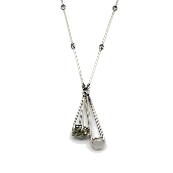 Pyrite & Moonstone Necklace