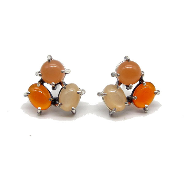 Orange Cluster - Earrings