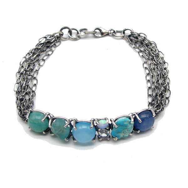 Shades of Water - Gemstone Bracelet