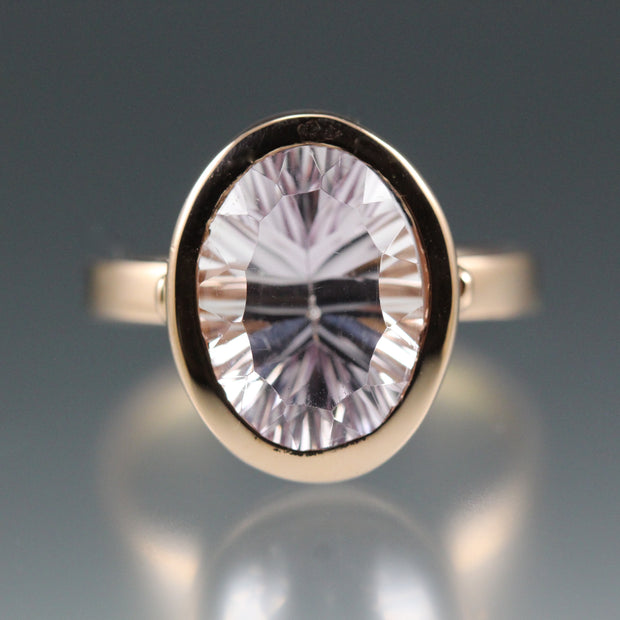 Amethyst & Rose Gold - Collet Ring