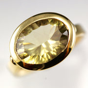 Ctrine and Yellow Gold - Collet Ring