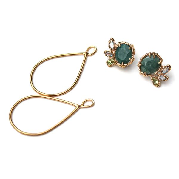 Emerald Earrings that can convert from studs to dangle earrings