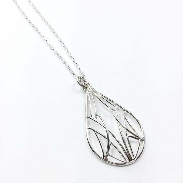 Medium Teardrop Openwork Necklace