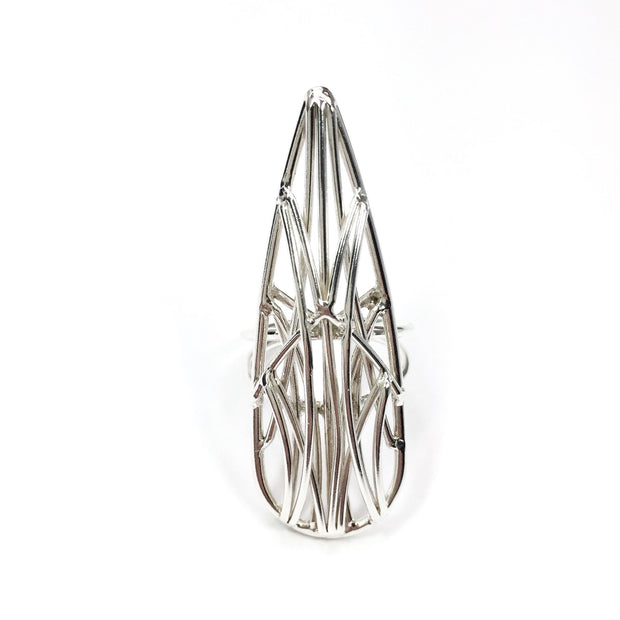 Medium Teardrop Openwork Ring