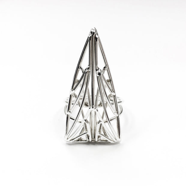 Medium Triangular Openwork Ring