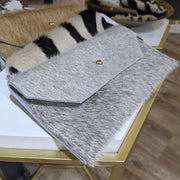 Handmade Recycled Hide Phone Clutch Handbag, made from recycled upholstery hide bags.  Recyce/Reuse hangbag