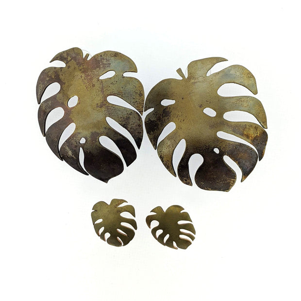 5/1/21 PM Monstera Earrings - MAKE + SIP CLASS