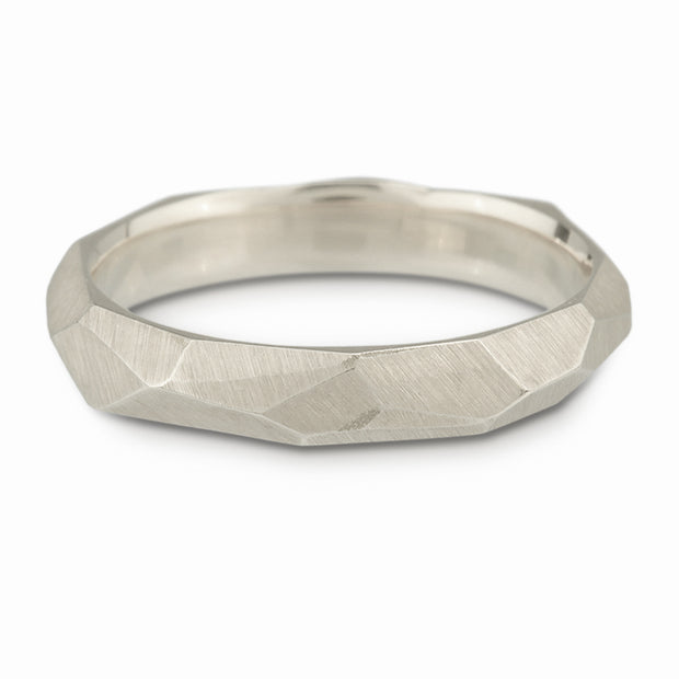 Women's Facet Ring - Sterling Silver
