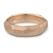 Men's Facet Ring - 5mm wide - white, yellow or rose gold