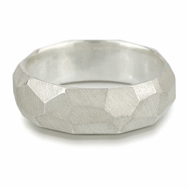 Men's Facet Ring - Sterling Silver
